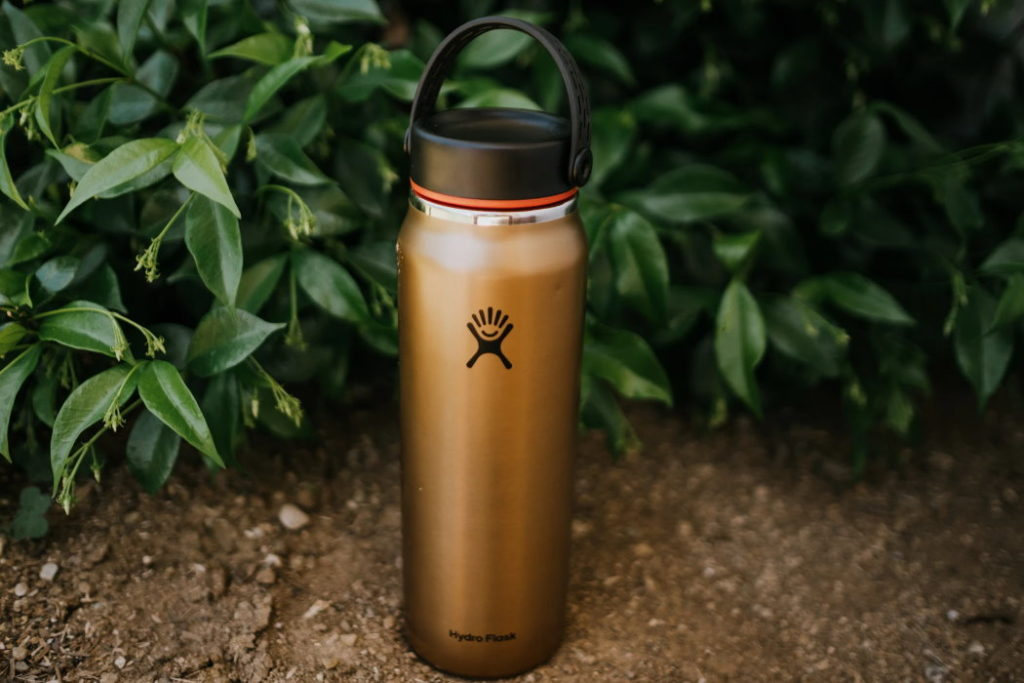 botella de agua hydro flask lightweight wide mouth trail series exterior