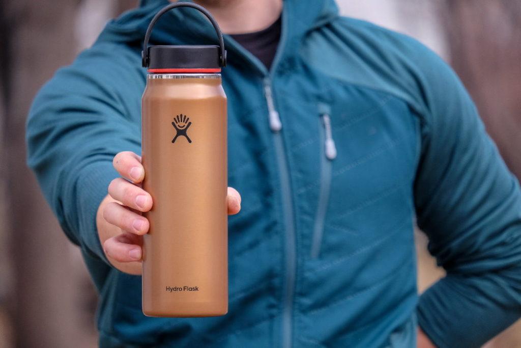 botella de agua hydro flask lightweight wide mouth trail series tamaño