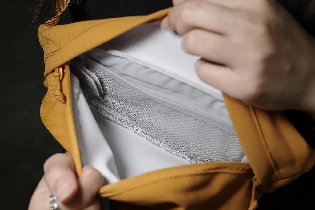 fjallraven ulvo hip pack medium compartimento interno