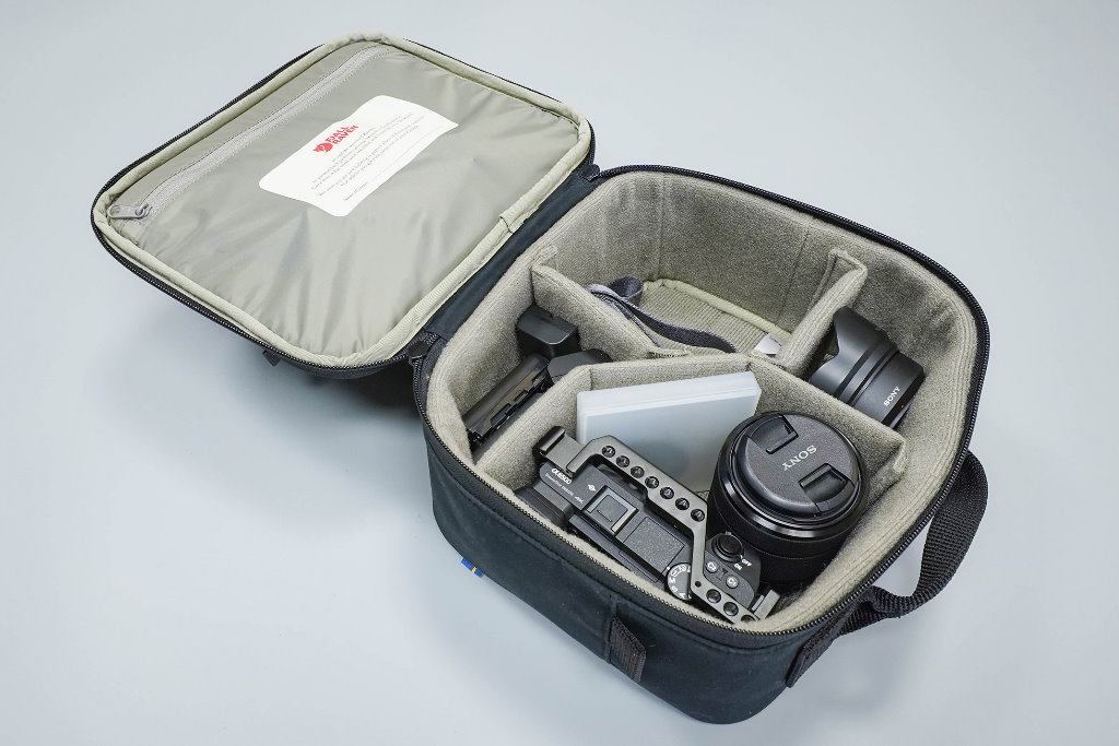 funda para camara reflex fjallraven kanken photo insert compartimentos