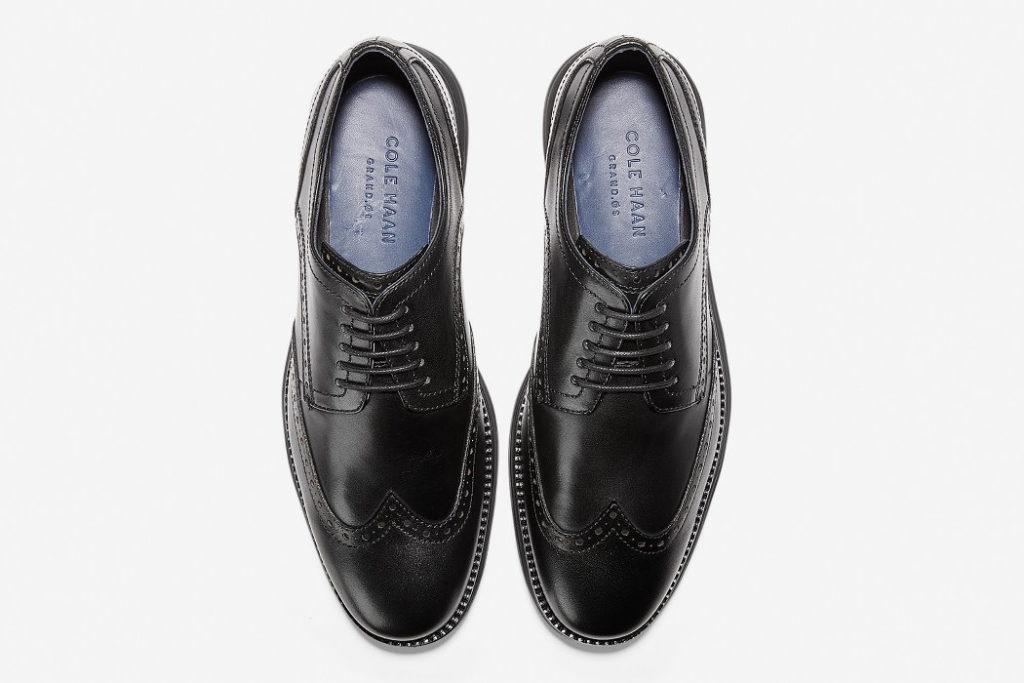 zapatos cole haan original grand wingtip oxford plano cenital