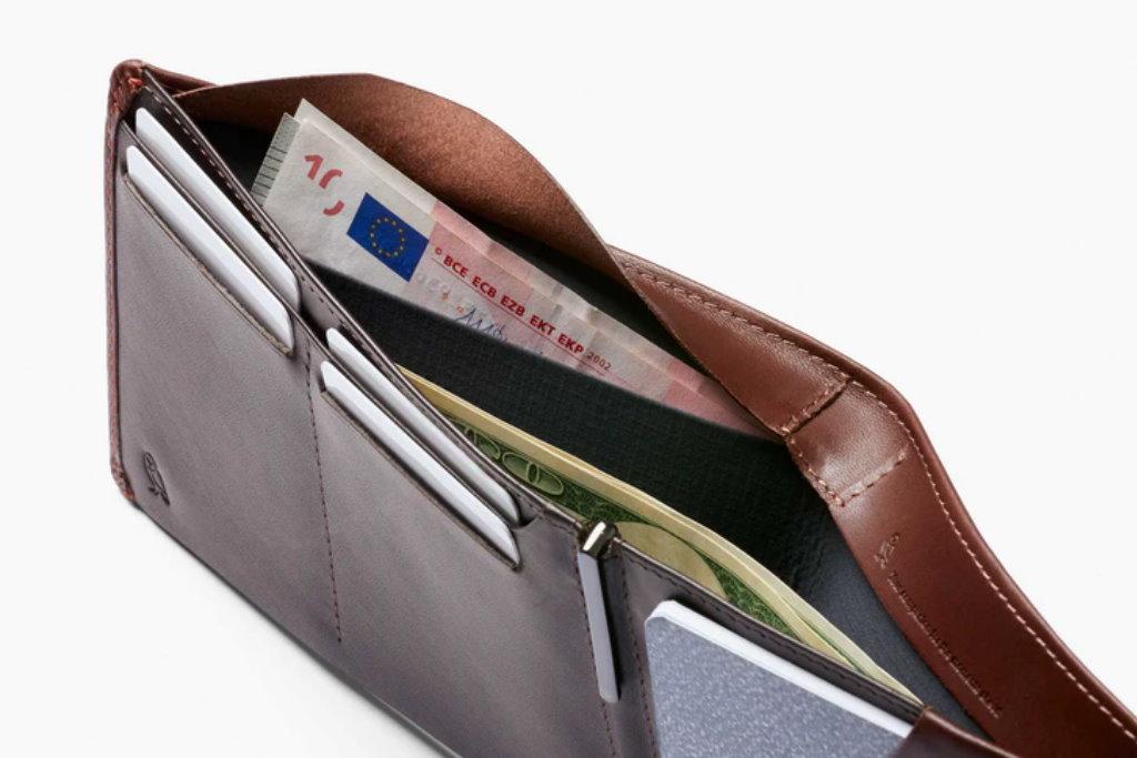 cartera de viaje bellroy travel wallet compartimentos