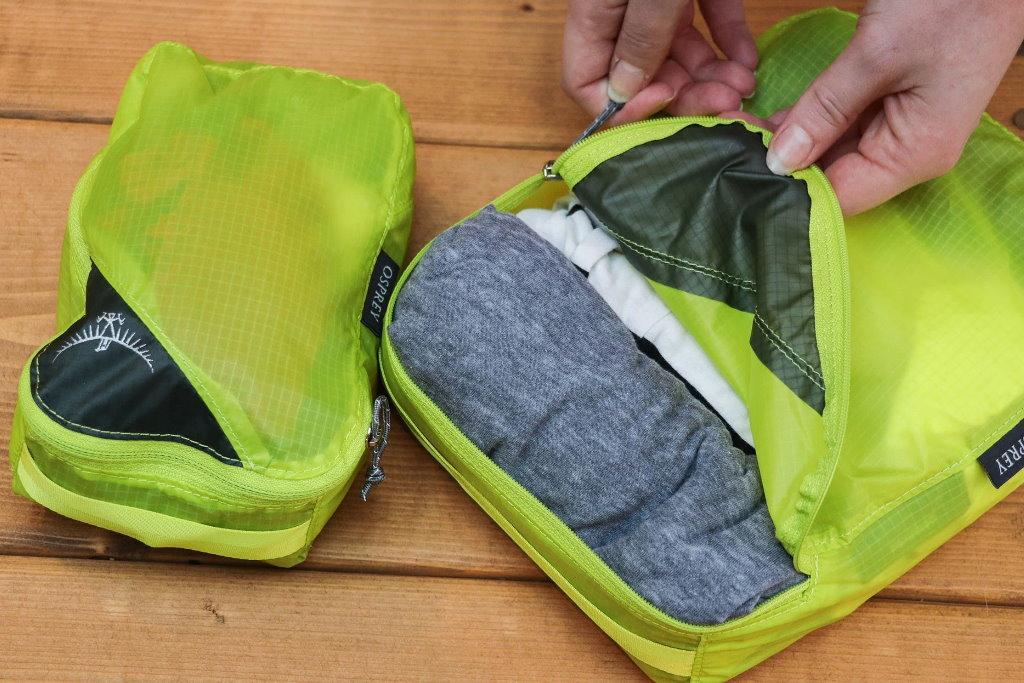 organizadores de maleta osprey ultralight set materiales