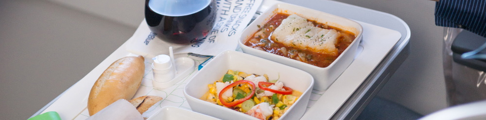 elegir comida avion