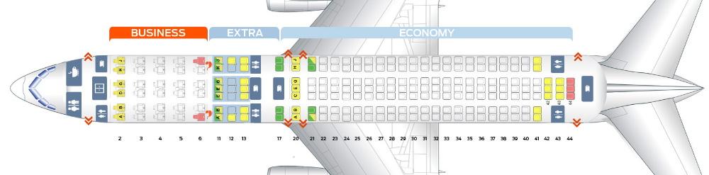 mapa asientos avion