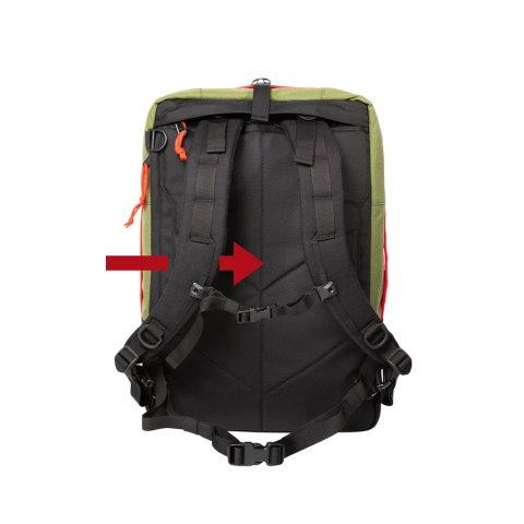 panel trasero mochilas
