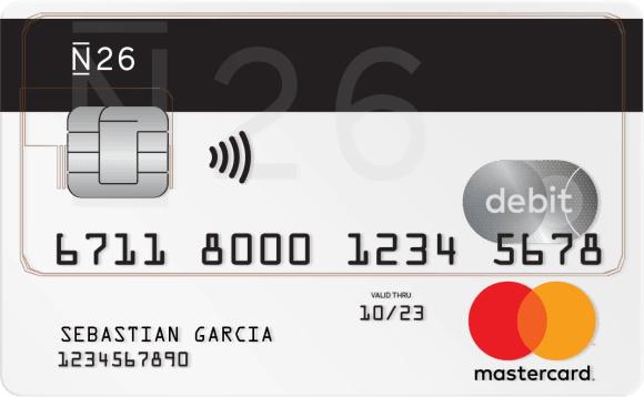 tarjetas para viajar tarjeta n26
