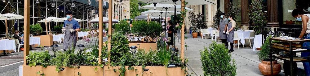 terrazas exteriores restaurantes covid