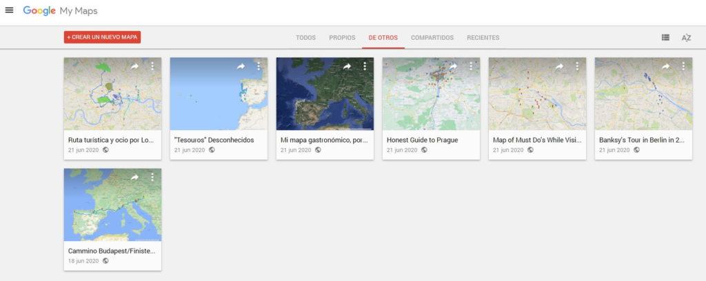 mapas creados por usuarios google maps