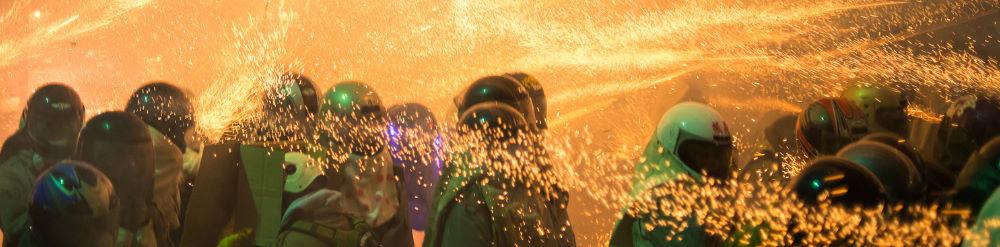 Festival de fuegos artificiales Yanshui Taiwán